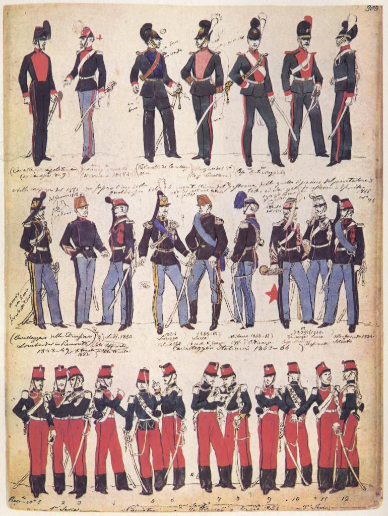 Uniformi Militari - Il Codice Cenni: Tavola 03