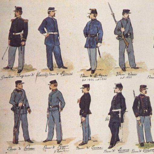 Uniformi militari - Il Codice Cenni: Tavola 04