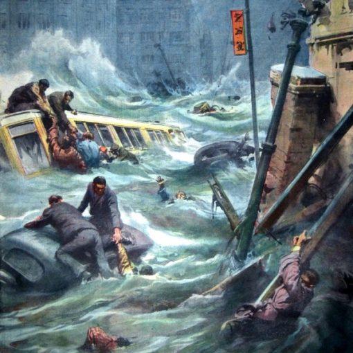 "I Disegni di Achille Beltrame: ""La città di Kobe devastata"""