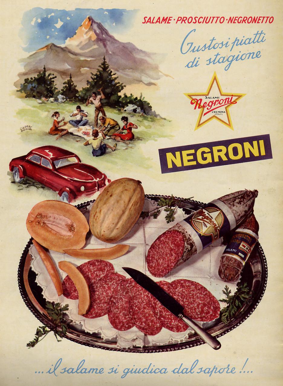 Pausa Pubblicità: Salame Prosciutto Negronetto (1955)