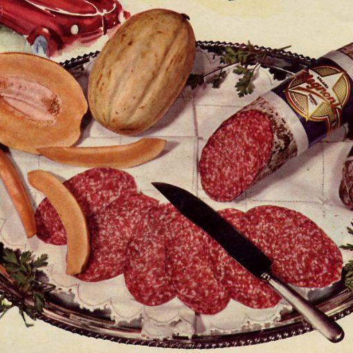 """Pausa Pubblicità: """"Salame Prosciutto Negronetto"""" (1955)"""