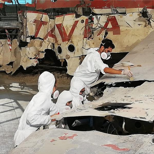Museo per la Memoria di Ustica: gli esiti dei lavori di ripulitura del DC-9 Itavia