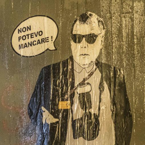 Street art dedicata a Pietro Coccia alla Festa del Cinema