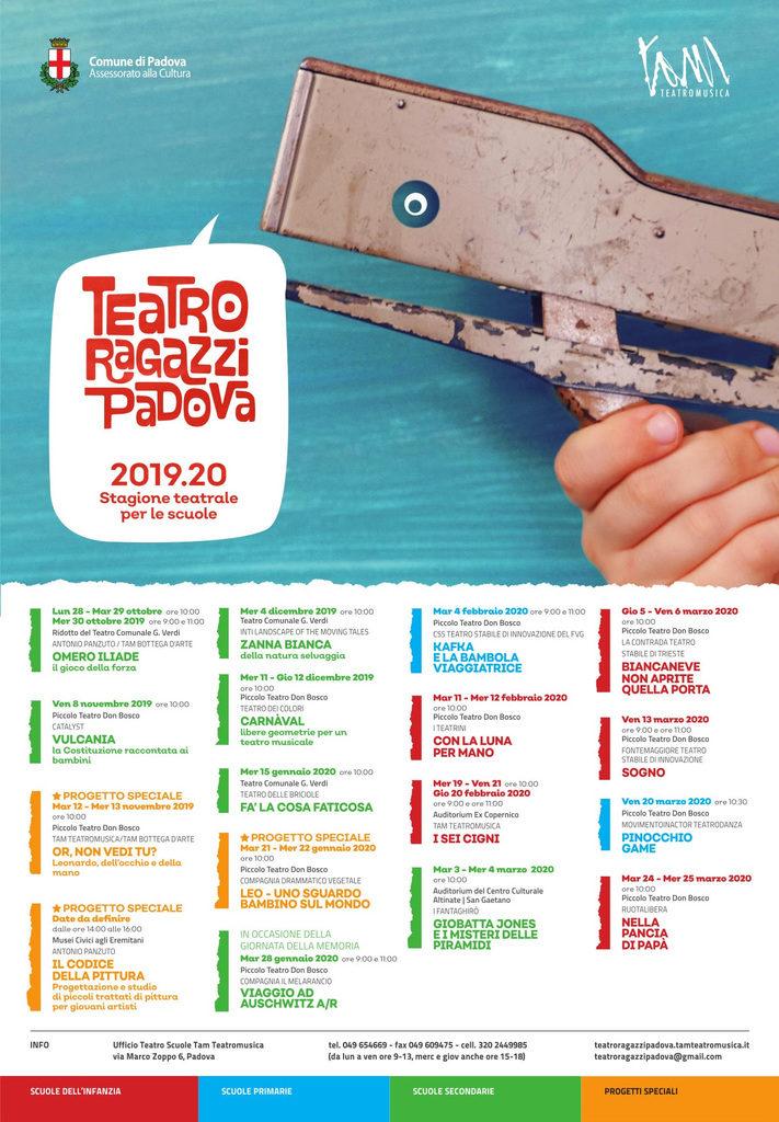 Teatro Ragazzi Padova 2019-20 - Rassegna teatrale per le scuole
