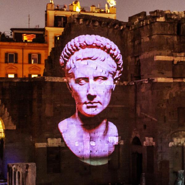 Viaggi nell'antica Roma - Spettacoli multimediali al Foro di Cesare e al Foro di Augusto