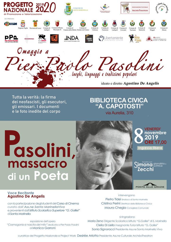Omaggio a Pier Paolo Pasolini  - Terza tappa a Santa Marinella