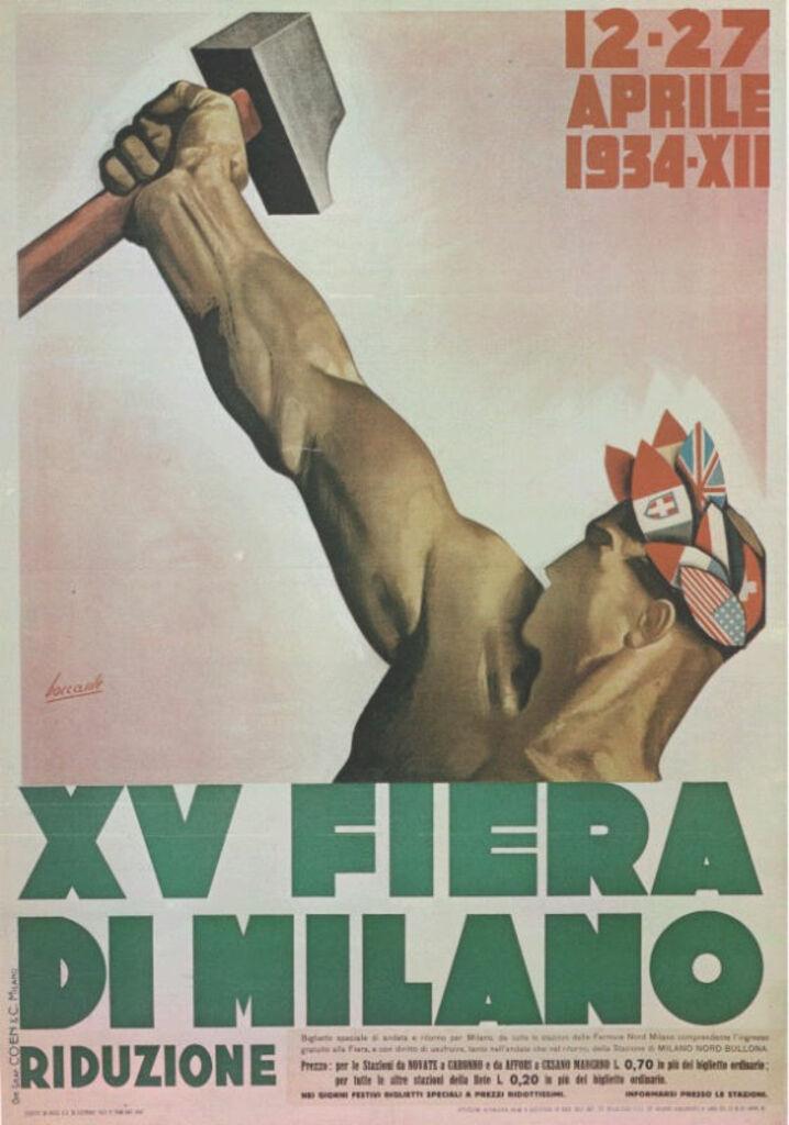 """Manifesti d'epoca: """"XV Fiera di Milano"""""""