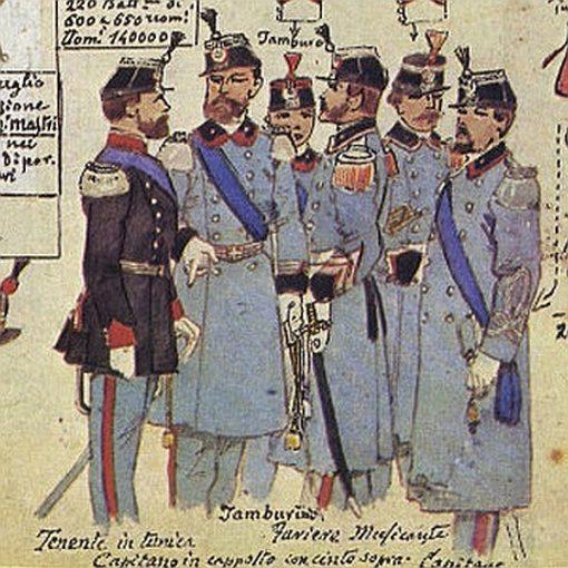 Uniformi militari - Il Codice Cenni: Tavola 07
