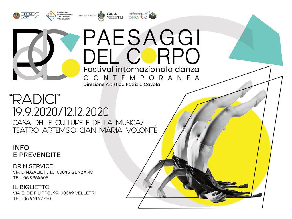 """Paesaggi del corpo - Festival internazionale danza contemporanea: """"Radici"""""""
