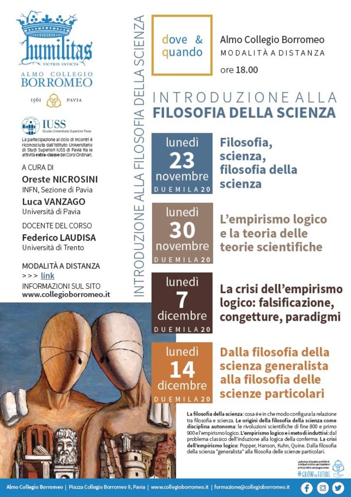 """Corso online: """"Introduzione alla Filosofia della scienza"""""""