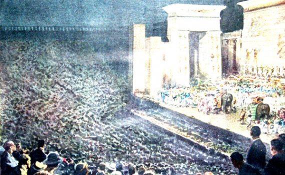 """I Disegni di Achille Beltrame: """"L'Aida al Teatro dei Ventimila"""""""