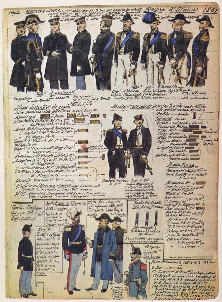 Uniformi militari - Il Codice Cenni: Tavola 08