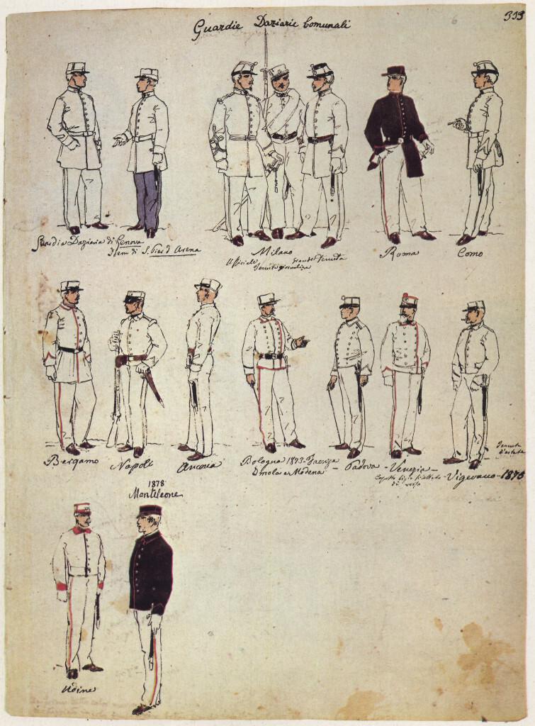 Uniformi militari – Il Codice Cenni: Tavola 10