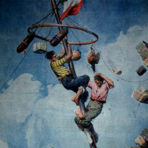"""I Disegni di Achille Beltrame: """"Una cuccagna finita male"""""""
