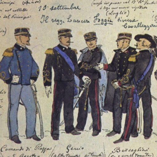 Uniformi militari - Il Codice Cenni: Tavola 11