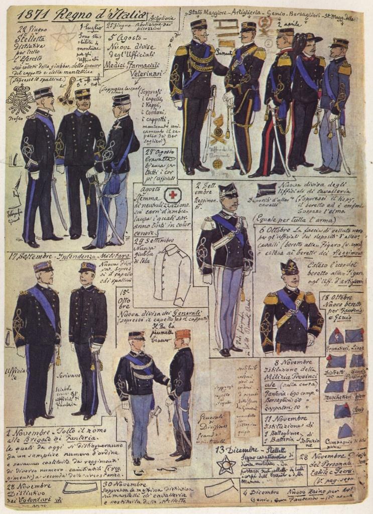 Uniformi militari - Il Codice Cenni: Tavola 12
