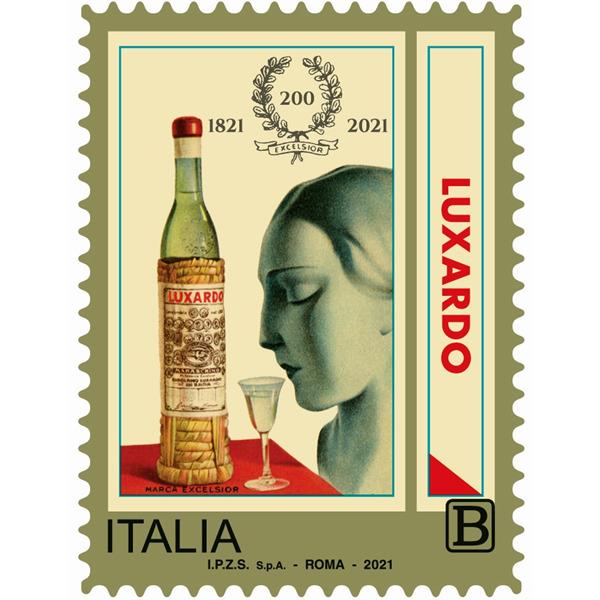 Il francobollo celebrativo per i 200 anni di Luxardo