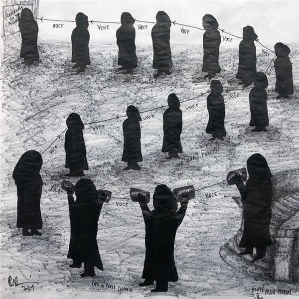 """""""Il sogno canta su una corda sola"""". Performance di Andrea Bianconi"""