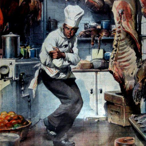 """I Disegni di Achille Beltrame: """"Un cuoco... al fresco"""""""