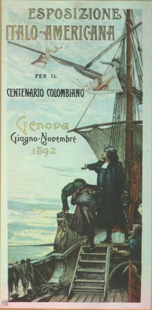 """Manifesti d'epoca: """"Esposizione per il centenario colombiano"""""""