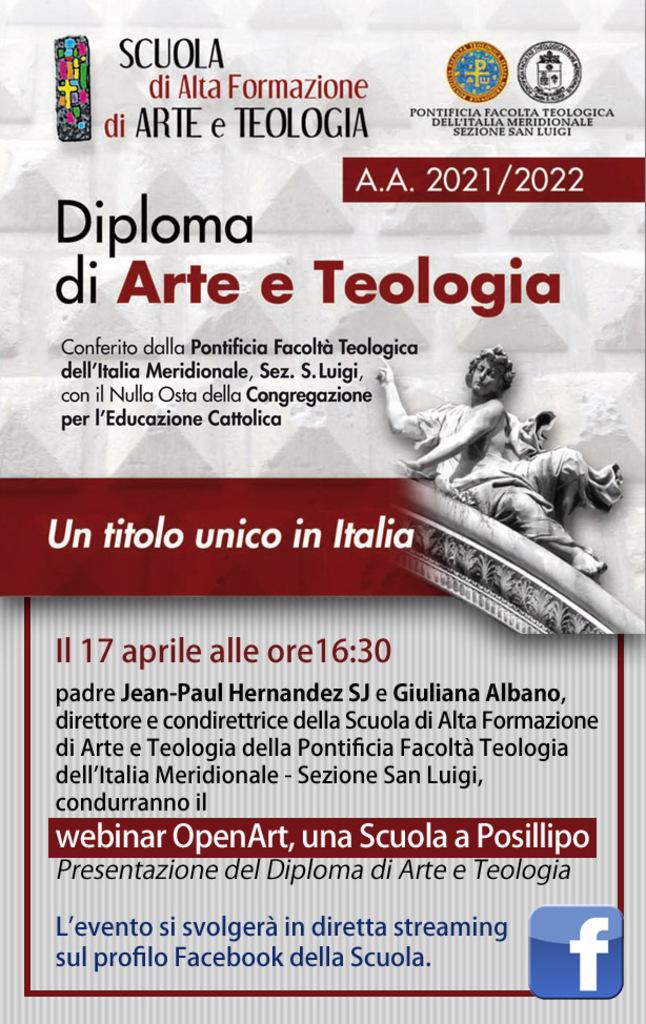 OpenArt, una Scuola a Posillipo. Presentazione del Diploma di Arte e Teologia