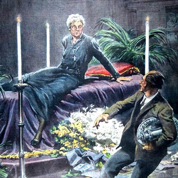 """I Disegni di Achille Beltrame: """"Una vecchia signora... resuscita!"""""""