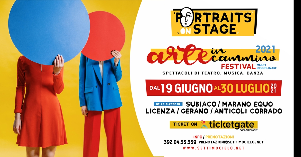 Portraits on stage 2021 - Arte in cammino