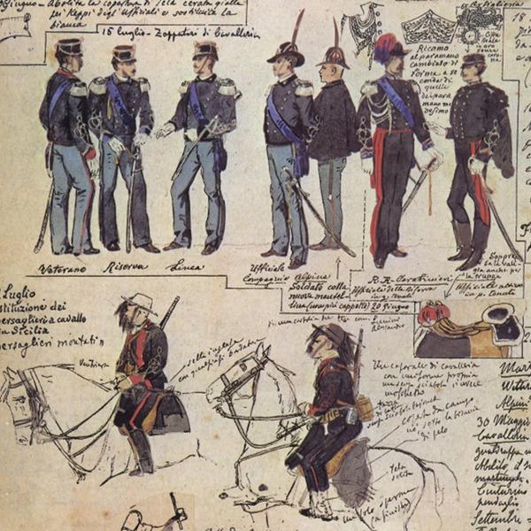 Uniformi militari - Il Codice Cenni: Tavola 18
