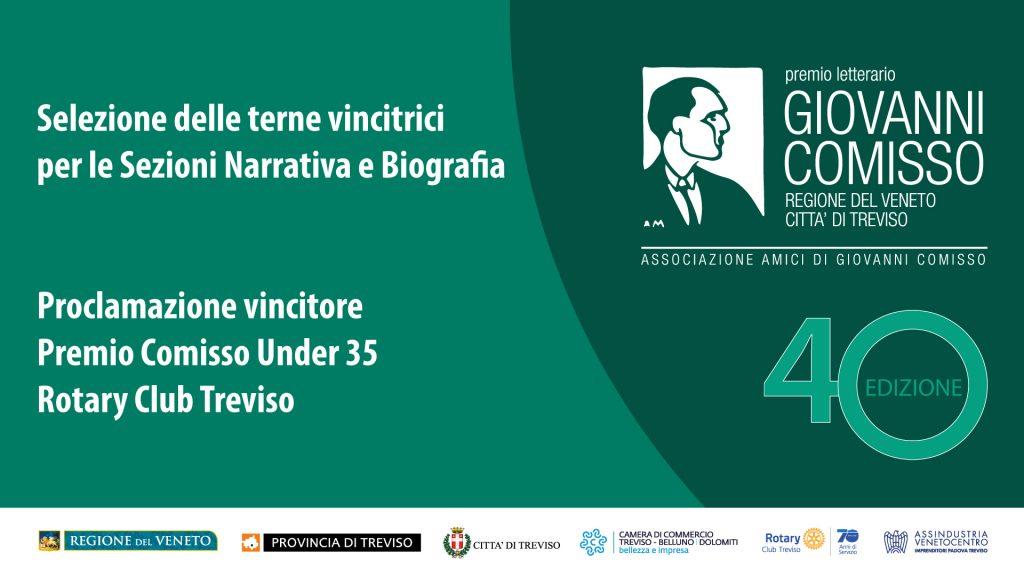 Selezione delle terne finaliste del Premio Comisso e proclamazione vincitore del Premio Comisso Under 35 - Rotary Treviso
