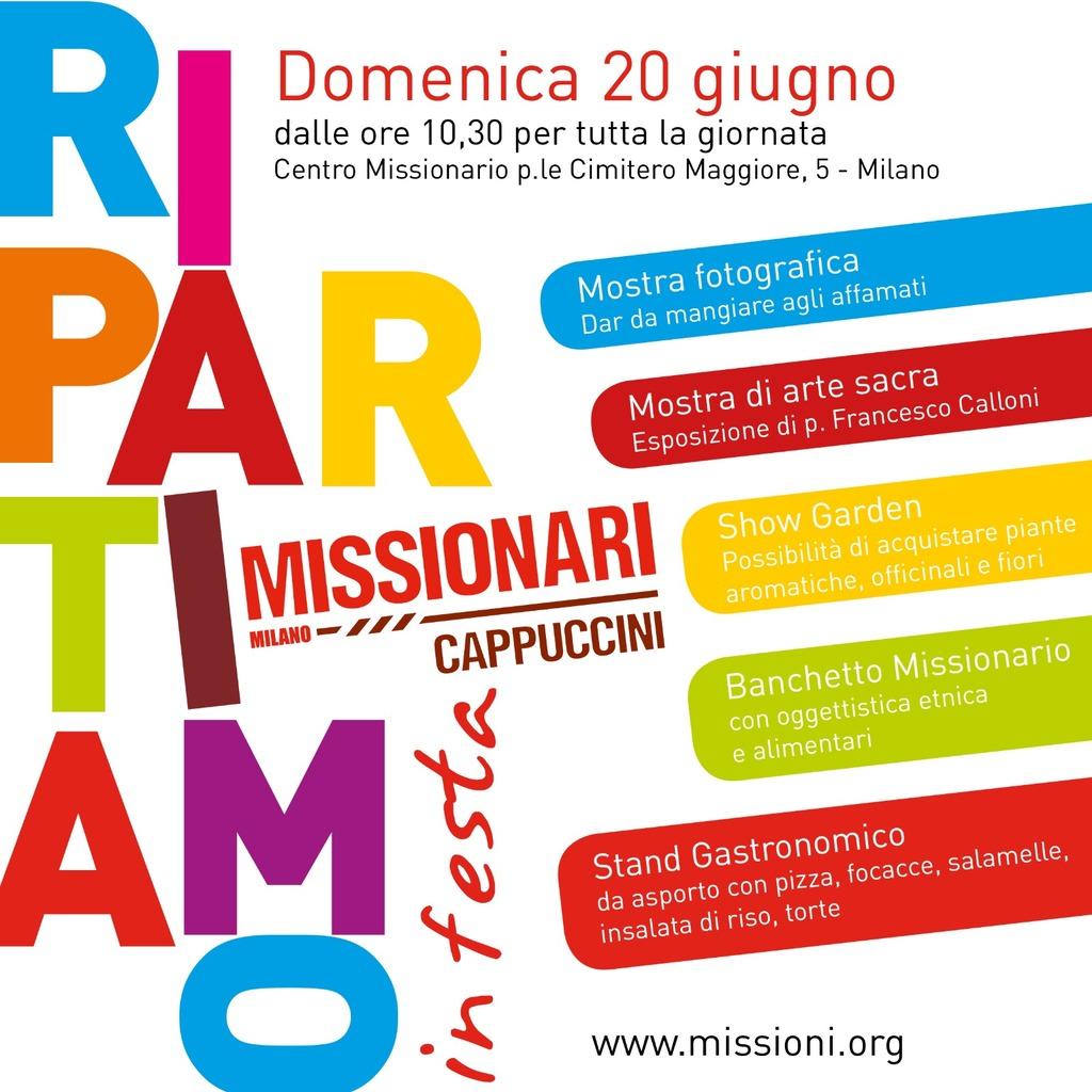 Mostre, mercatino etnico, show garden e street food per la Festa al convento dei Frati missionari