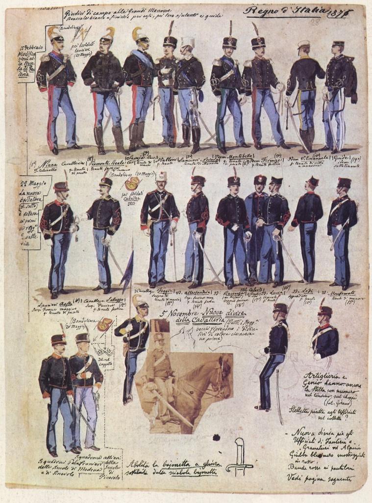 Uniformi militari - Il Codice Cenni: Tavola 20