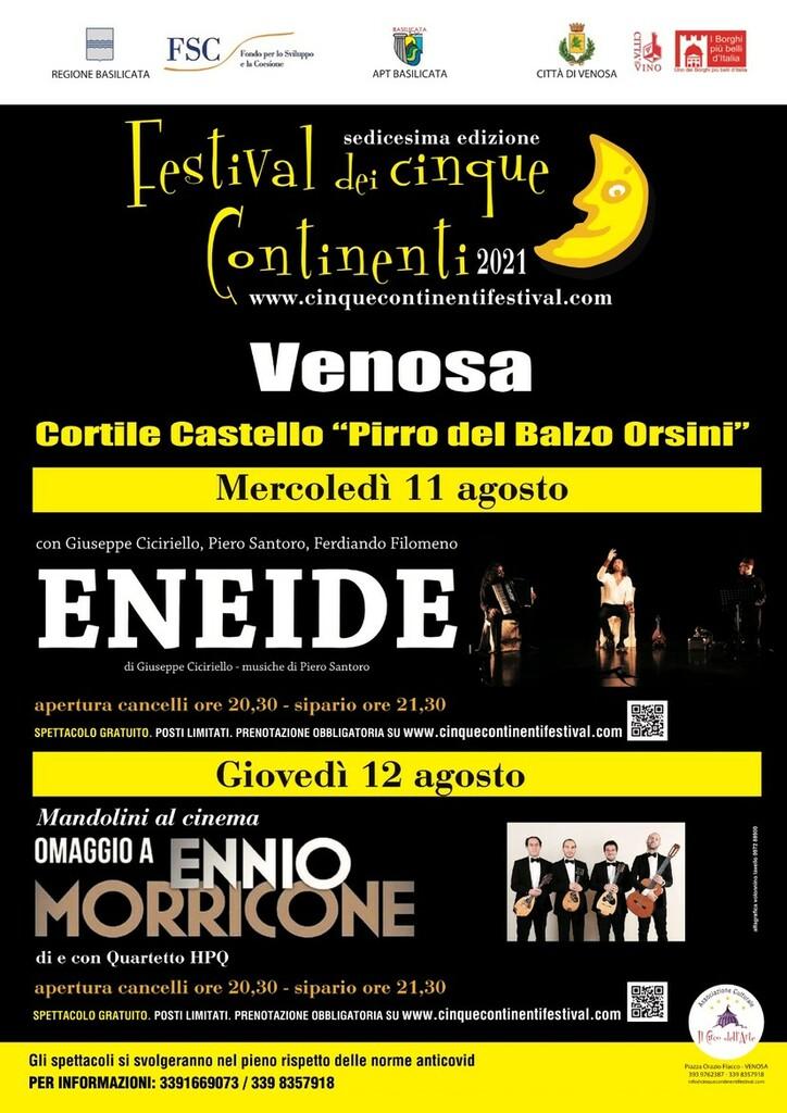 Festival dei Cinque Continenti di Venosa - XVI edizione