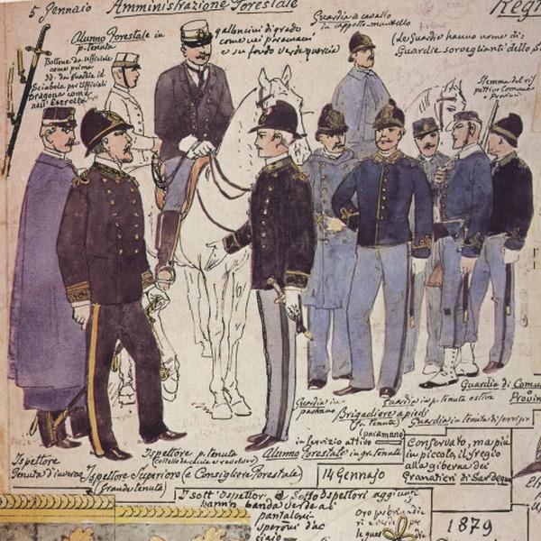 Uniformi militari - Il Codice Cenni: Tavola 21