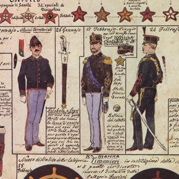 Uniformi militari - Il Codice Cenni: Tavola 22